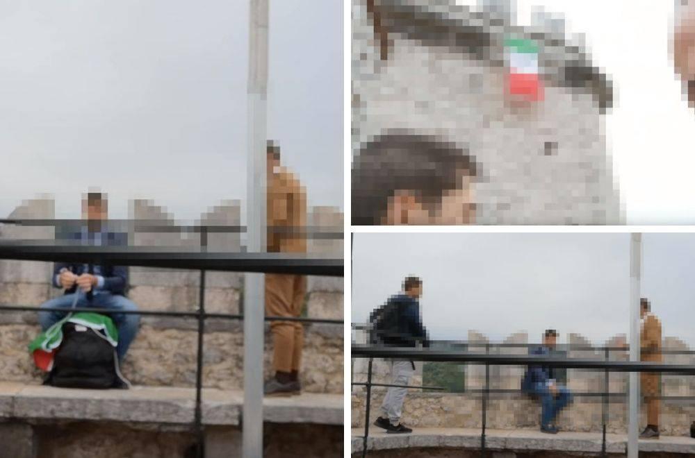 Nova provokacija: Na Trsatsku gradinu objesili zastavu Italije