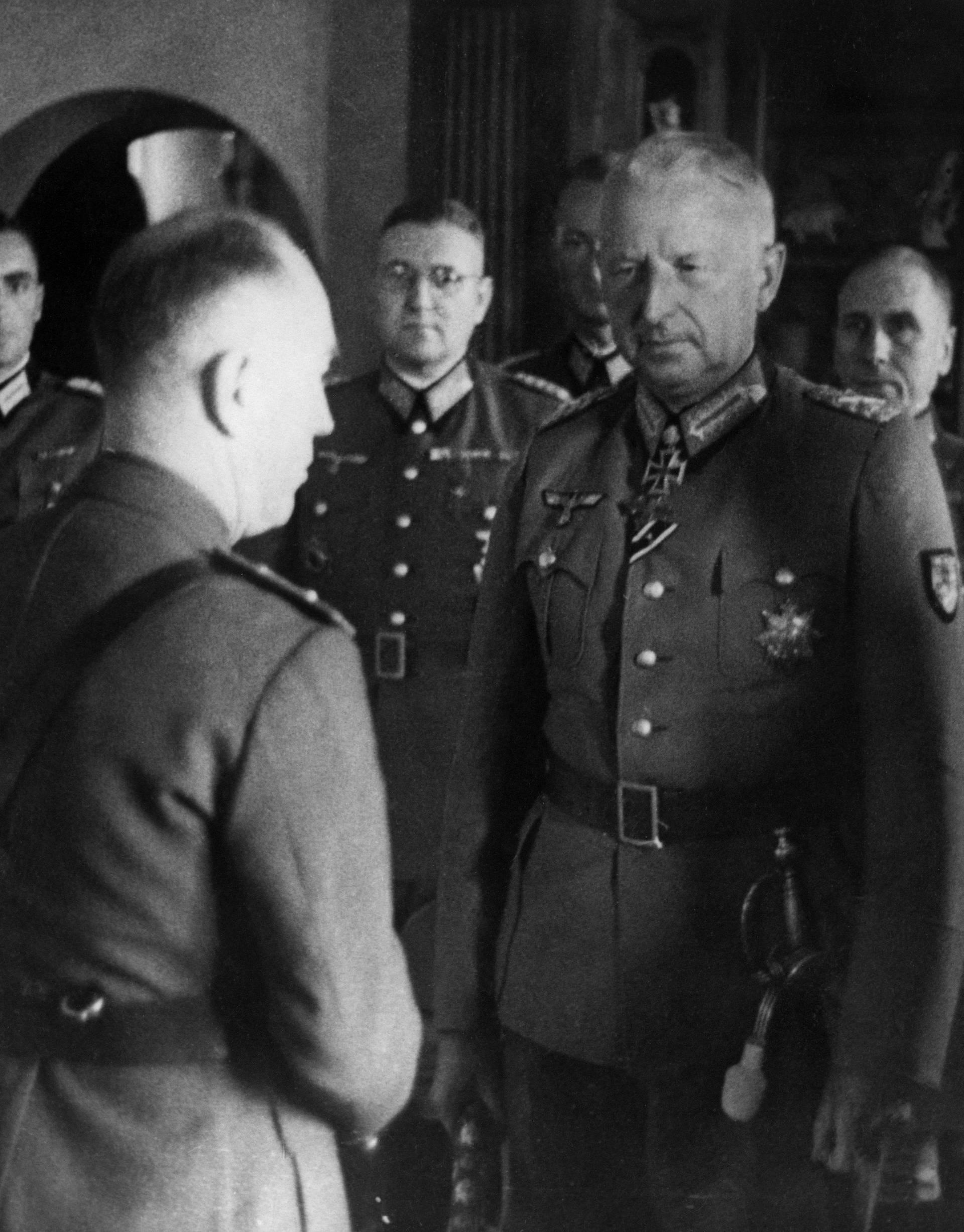 Von Manstein bei Antonescu / Foto 1943