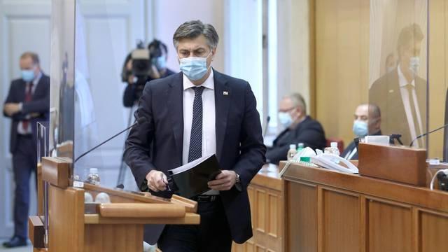 Zagreb: Sjednica Sabora nastavljena je raspravom o Godišnjem izvješću Vlade RH