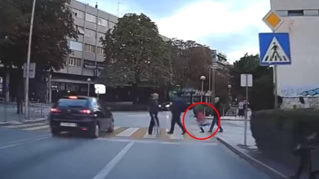 Dvaput je projurio preko zebre u Splitu, metar od djevojčice!