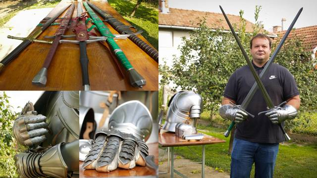 Ivan je moderni vitez iz Našica: 'Moji mačevi su ručni rad, a korice za njih izrađujem sam'