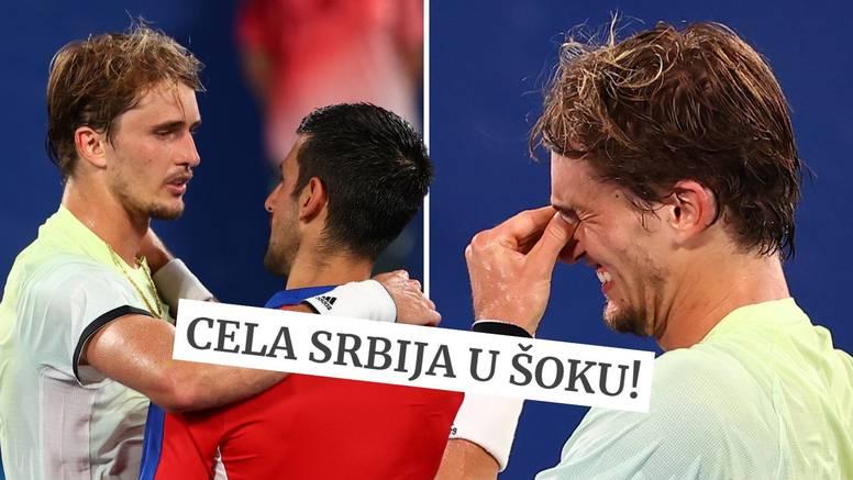 Srpski mediji šokirani nakon što je Zverev srušio Đokovićev san: 'Dobijem ga, a vi me to pitate?!'
