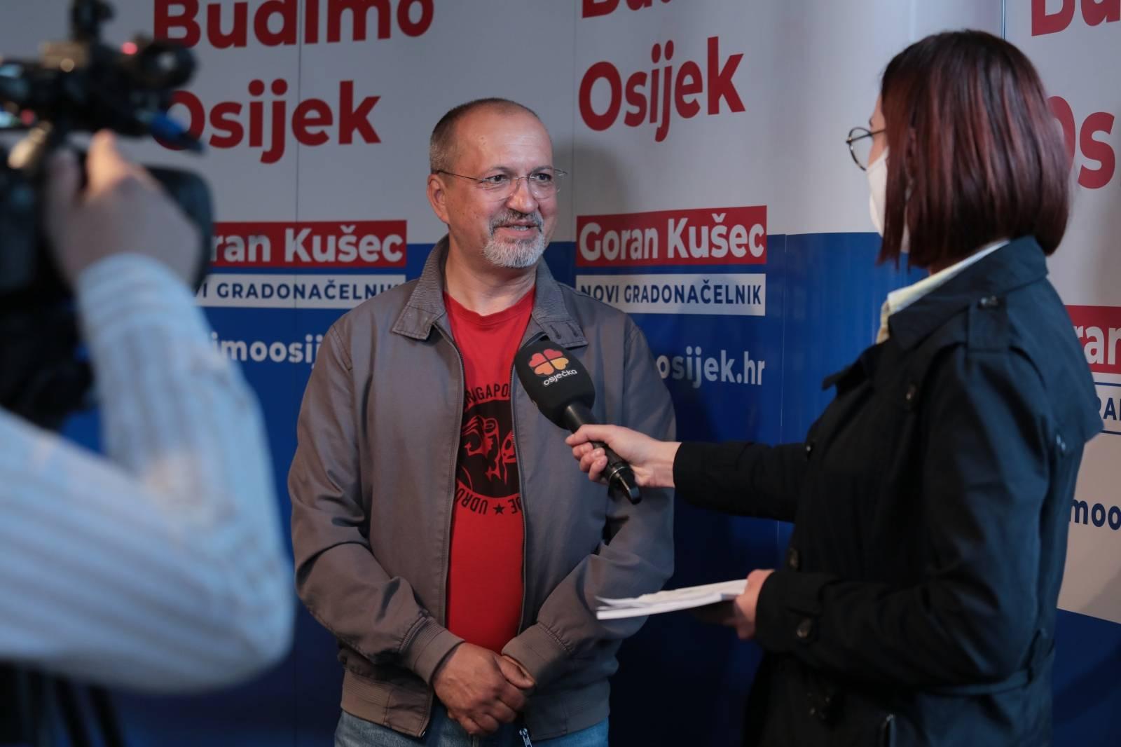 Osijek: Stožer SDP-a nakon prvih izlaznih anketa