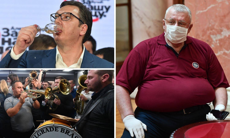 Vučić slavio s trubačima, Šešelj na aparatima, radikali nisu ni prošli izborni prag u Srbiji