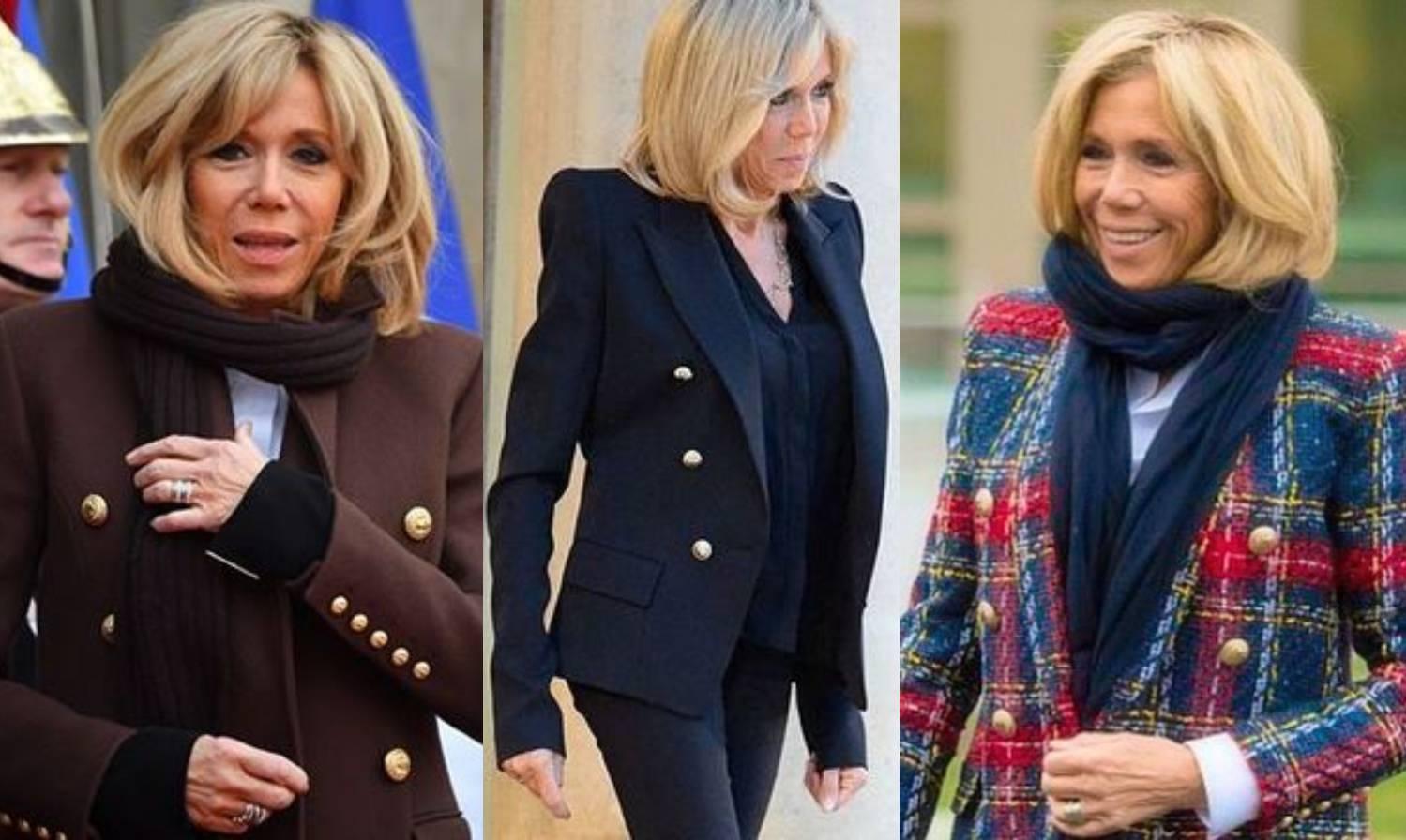 Chic klasika: Brigitte Macron ima izvrsne sakoe navy stila
