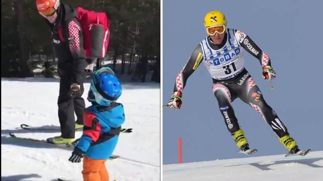 Kostelić junior ima samo dvije godine, a već skija kao tata...
