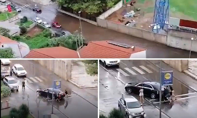 Nevrijeme u Dalmaciji: Javna garaža u Šibeniku potopljena
