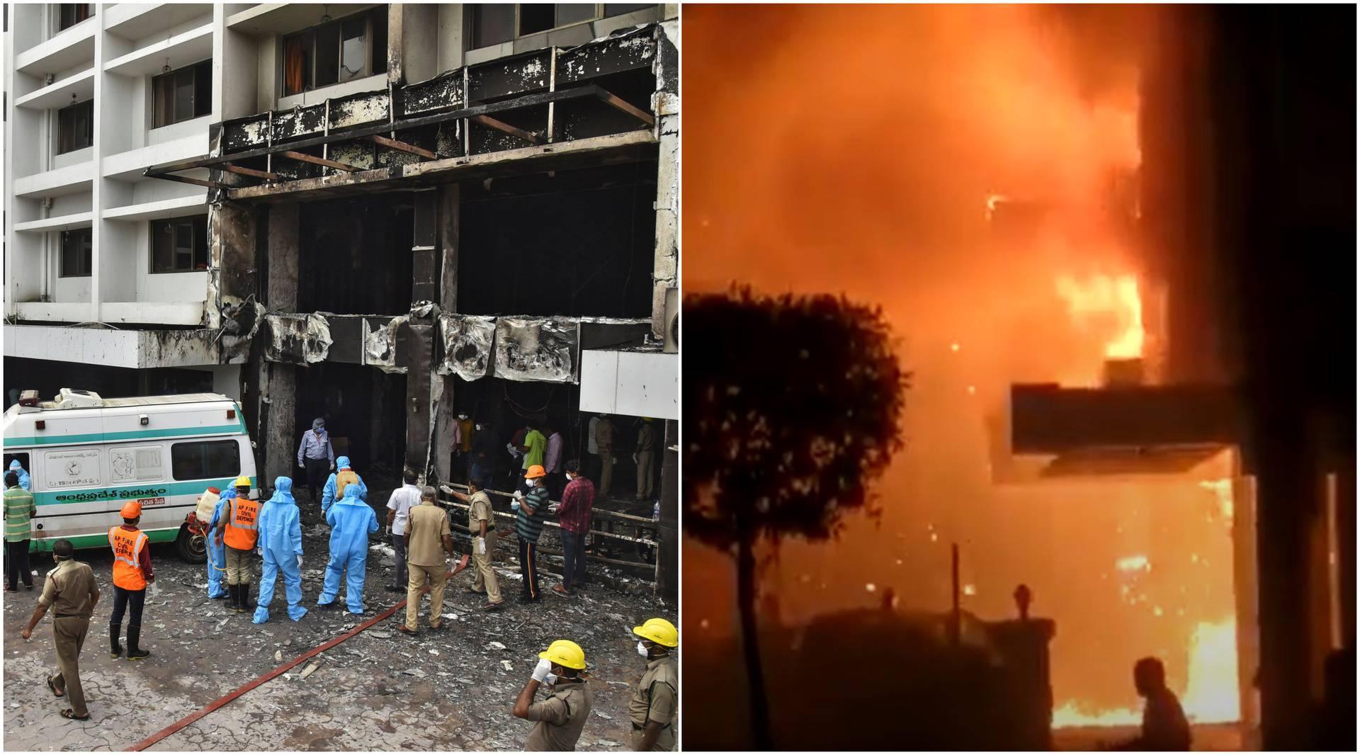 Jezivi prizori: U požaru covid bolnice poginulo 10 ljudi, bili su zarobljeni na gornjim katovima
