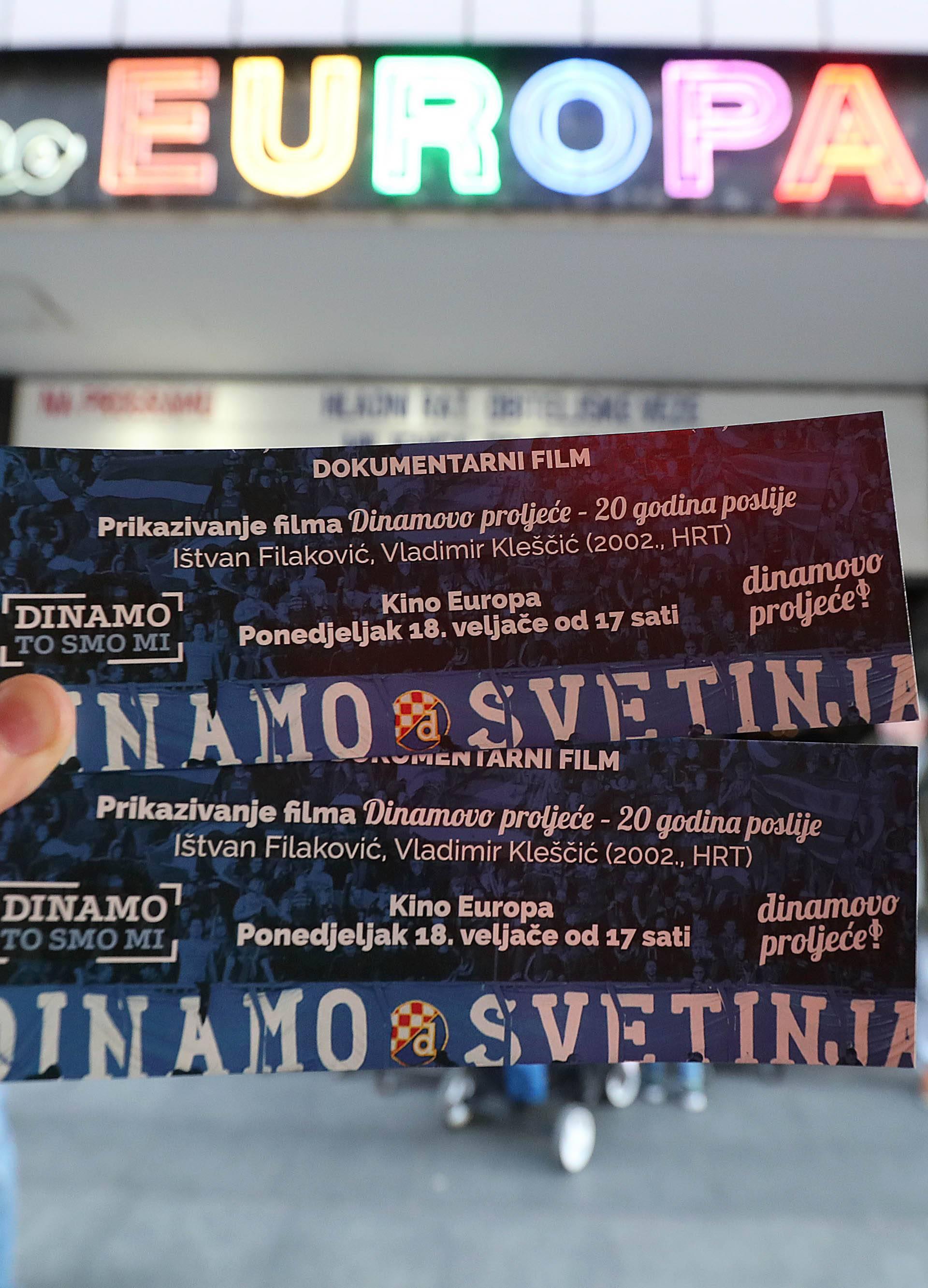 """Zagreb: U kinu Europa prikazan film """"Dinamovo proljeće - 20 godina poslije"""""""