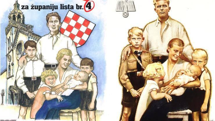 Korčulanski HSP u kampanji iskoristio Goebbelsov plakat