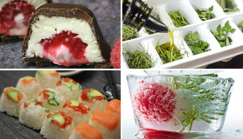 Odlični trikovi s posudicom za led: Praline, začini, vino, sushi