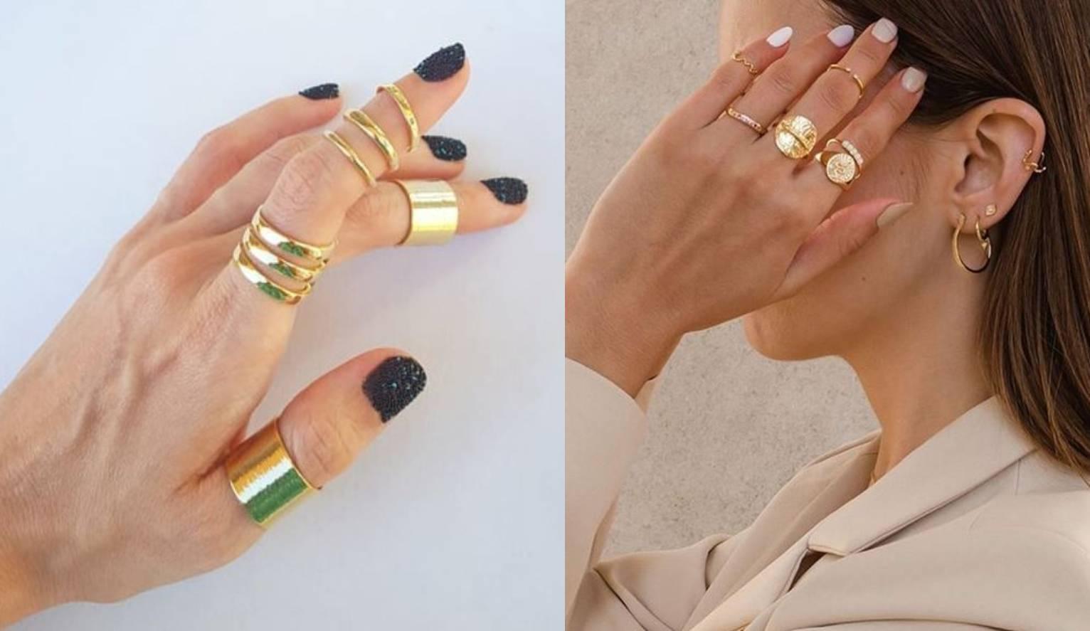 Za one koji vole raskoš nakita: Cool je nositi mnogo prstenja