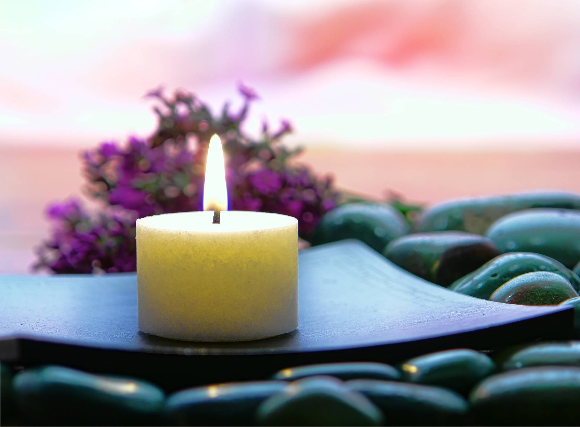 Aromatherapy Candle in a Spa