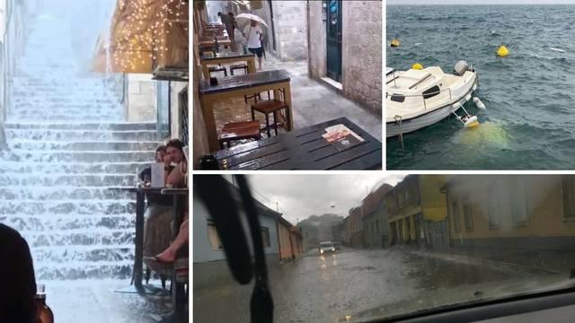 Nevrijeme haralo Hrvatskom: Pijavica kod Dubrovnika, ceste pod vodom, potonule brodice