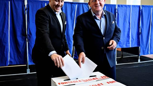 Danish PM Rasmussen votes in Copenhagen