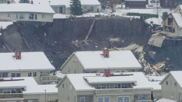 Landslide in Ask village, Norway