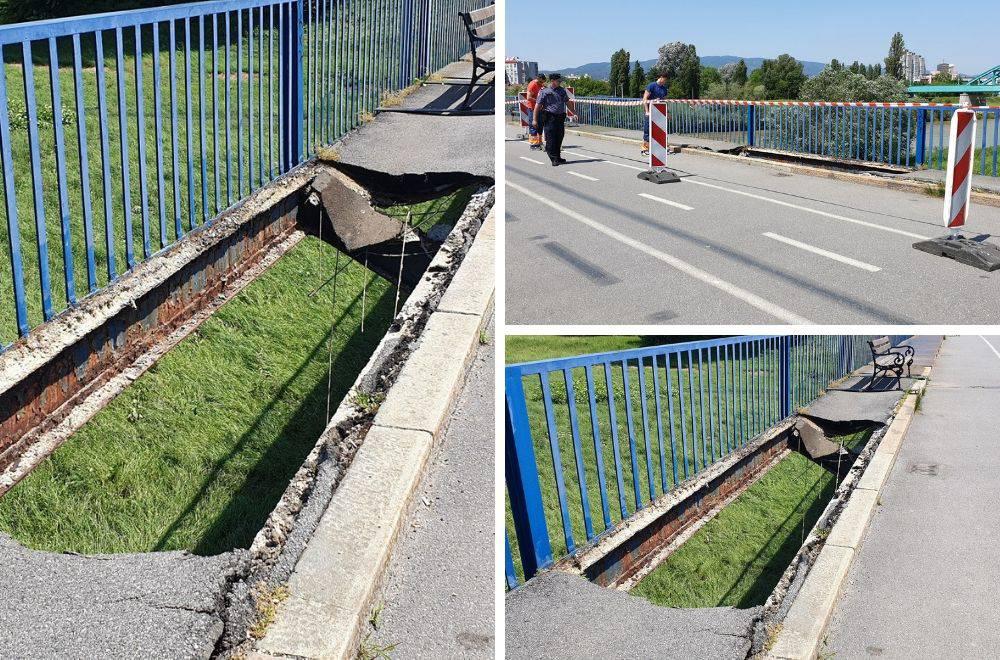Propao Savski most u Zagrebu: Pojavila se rupa od tri metra!