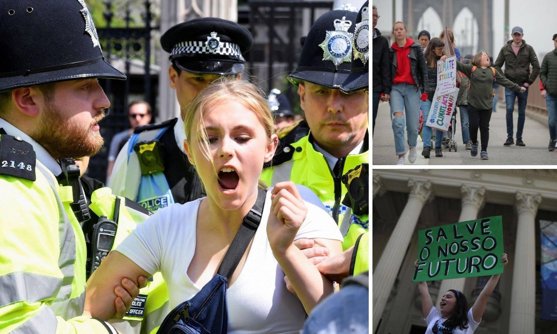 Mladi u prosvjedu za klimu: 'Vrijeme je za svjetski otpor'