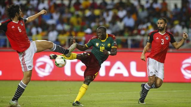 Cameroon's Vincent Aboubakar scores their second goal
