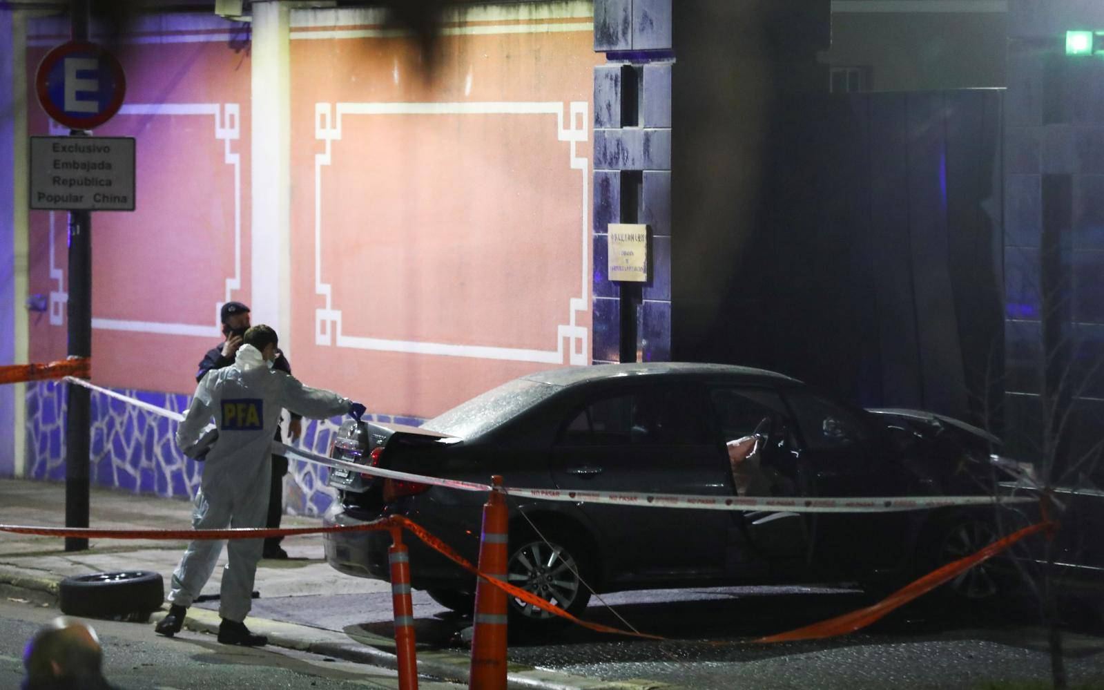Argentine man crashes car into Chinese embassy