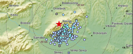 Opet potres u Zagrebu: 'Prvo se čula grmljavina, a onda se sve treslo sekundu ili dvije...'