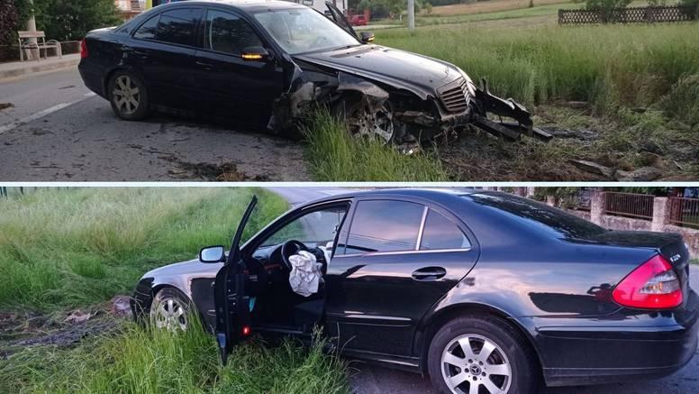 Pijan Mercedesom izletio s ceste i zabio u jarak, završio u bolnici