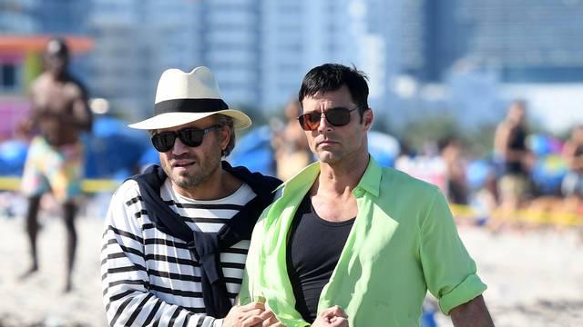 Ricky Martin and Edgar Ramirez film scenes for Versace American Crime Story