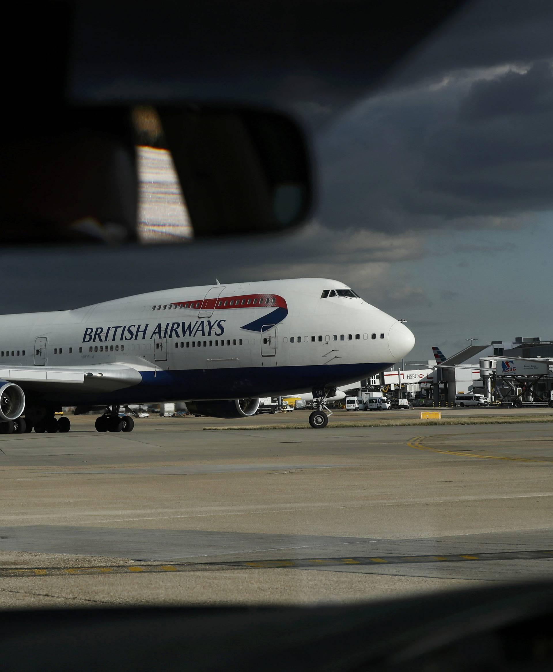 A British Airways aircraft taxis at Heathrow Airport near London
