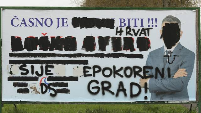 Osijek: Uništen plakat Demokratskog Saveza Srba
