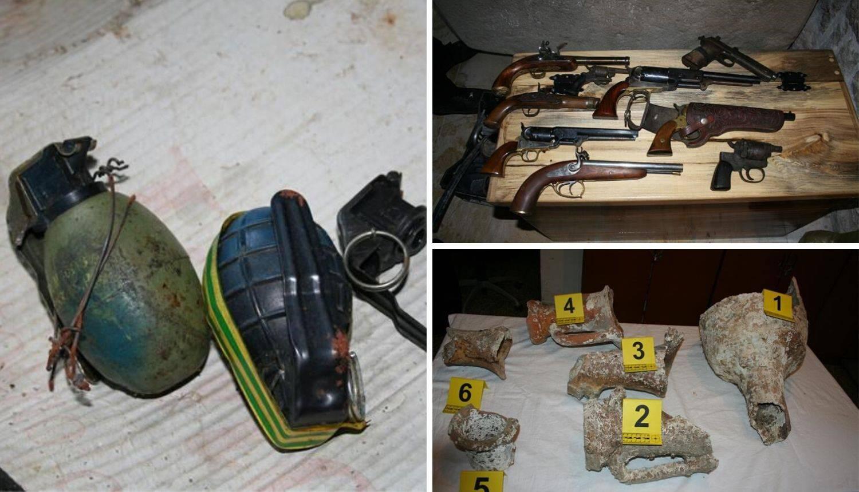 U kući u Stonu našli puške, dva pištolja, revolvere, streljivo...