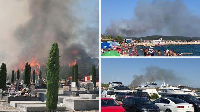 Gori u okolici Zadra: Uspjeli su lokalizirati požar kod Sukošana