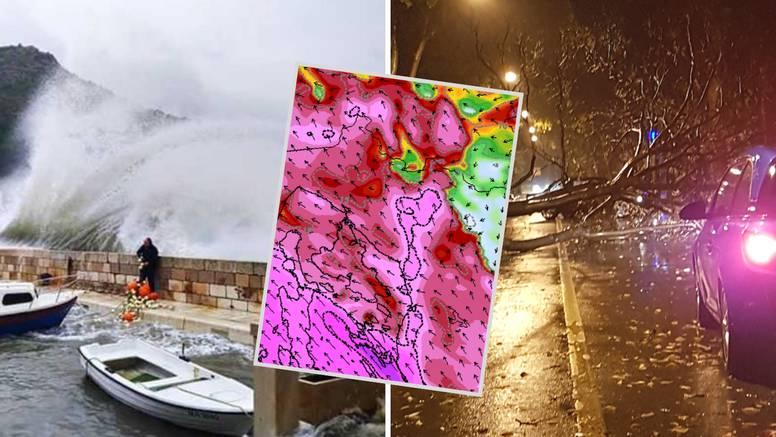 Stiže nova oluja! Crveni alarm upaljen za gotovo cijeli Jadran