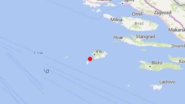 Potres jačine 3,1 zatresao Vis i Dalmaciju, gradonačelnik: 'Ljudi su uznemireni, ali nema štete'