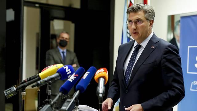 Zagreb: Plenković održao konferencij za medije vezano za presudu za fimi mediju
