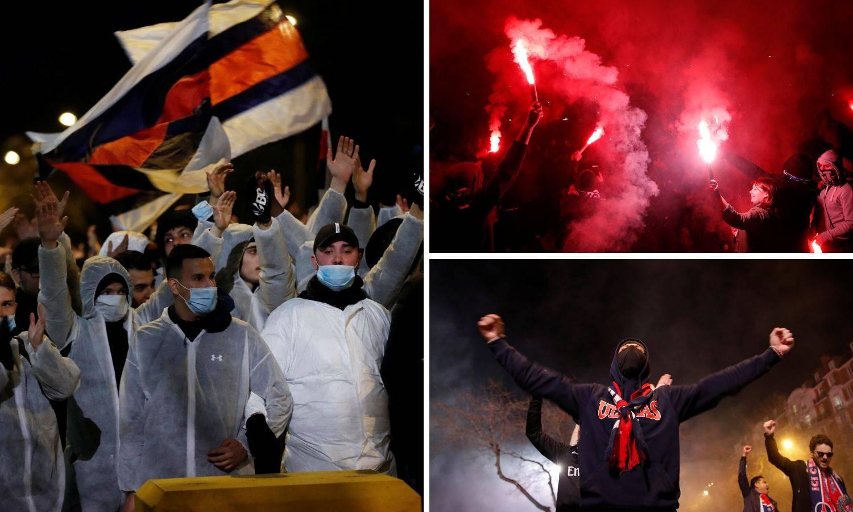 Parižani pred Parkom prinčeva uz vatromet bodrili svoj PSG