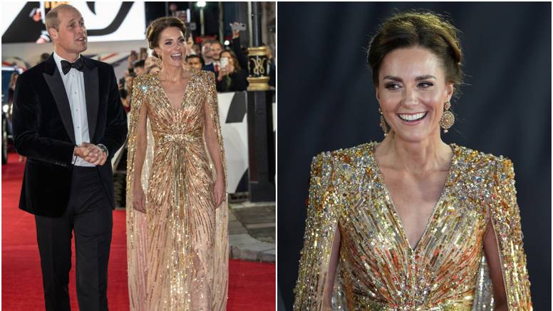 Kate zasjala u zlatnoj haljini od 24.000 kuna: Ne skidam pogled