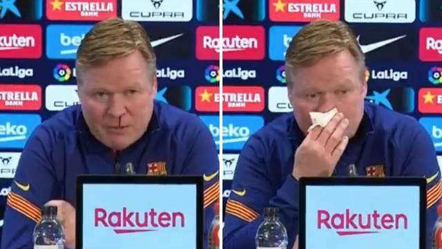 Španjolci se zabrinuli za trenera Barce: Potekla mu krv iz nosa