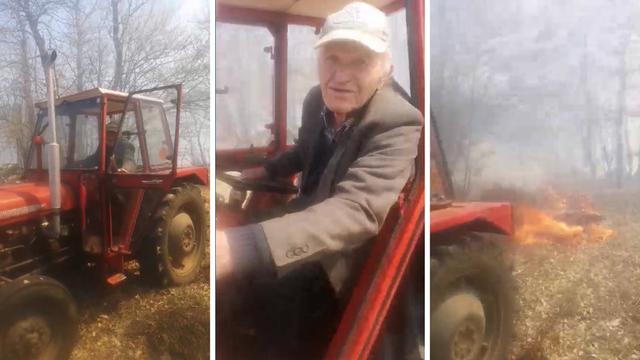 Na traktor vezao gumu i palio livadu: Ide mu kaznena prijava