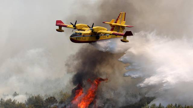 Požar na području Vrpolja gase 43 vatrogasca i dva kanadera