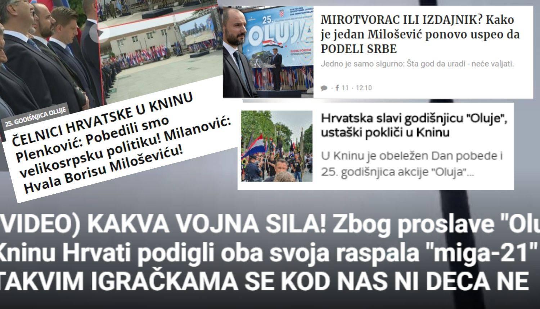 Srbi o proslavi u Kninu: Hrvati  digli oba svoja raspala MIG-a, takve igračke ni djeci ne dajemo