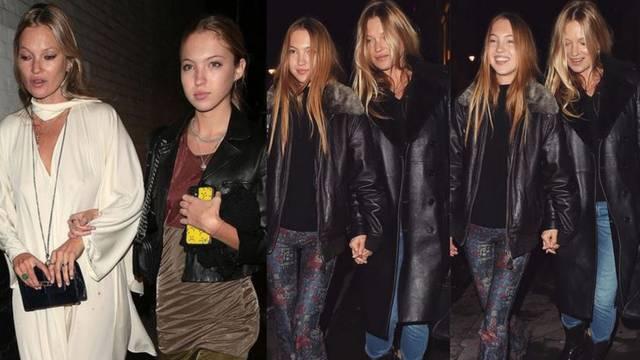 Sličan stil: Kate i Lila Moss vole kratke i duge crne kožnjake