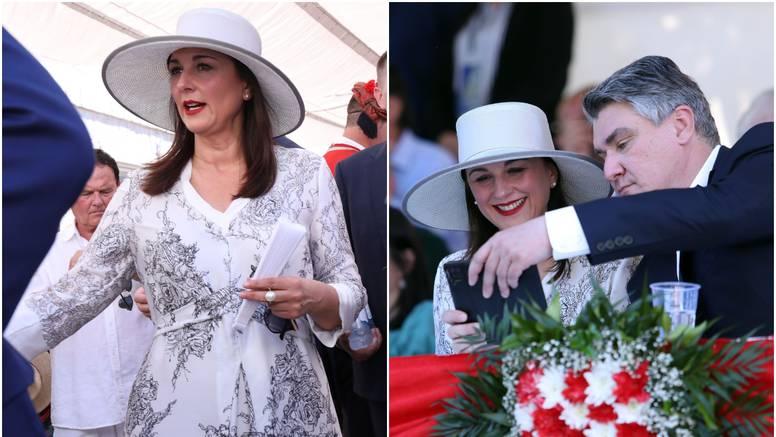 Sanja Musić Milanović zasjala u bijeloj odjevnoj kombinaciji, pa snimila selfie s predsjednikom