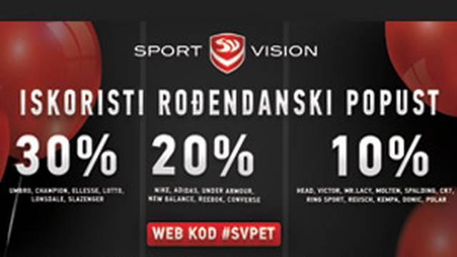 Sport Vision vas časti s popustima za svoj rođendan