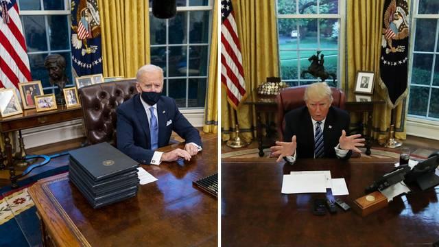 Novi američki predsjednik je odmah preuredio Ovalni ured: Izbacio je Trumpov tepih i slike