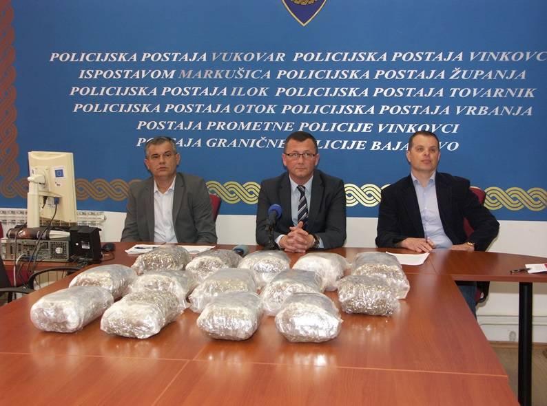 U Vukovaru zaplijenili 15 kila marihuane vrijedne 250.000 kn