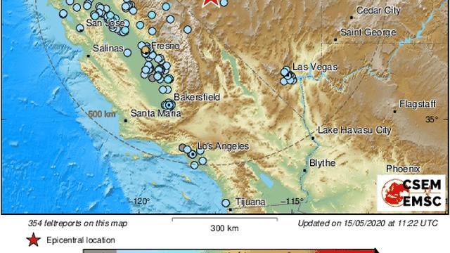 Jak potres od 6,4  Richtera u Nevadi: 'Užas, dugo je trajalo'