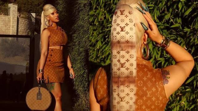 Cardi B sada ima Louis Vuitton uzorak na - svojoj dugačkoj kosi