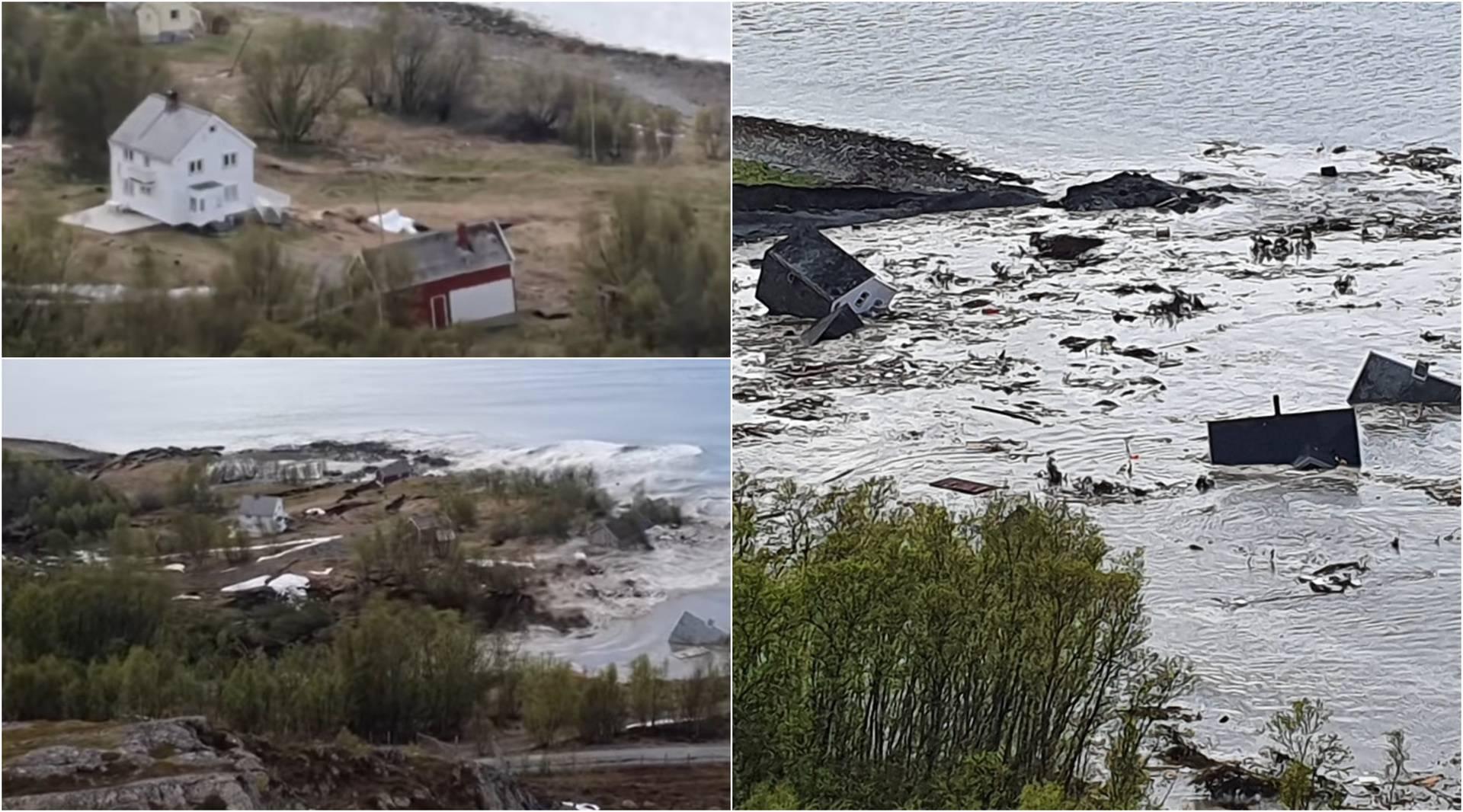 Nevjerojatna snimka: Komad zemlje se odvaja od kopna  i u more sa sobom povlači i kuće!