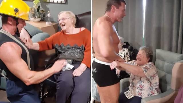 Bakica (89) iz doma za Božić je poželjela stripera - i došao je