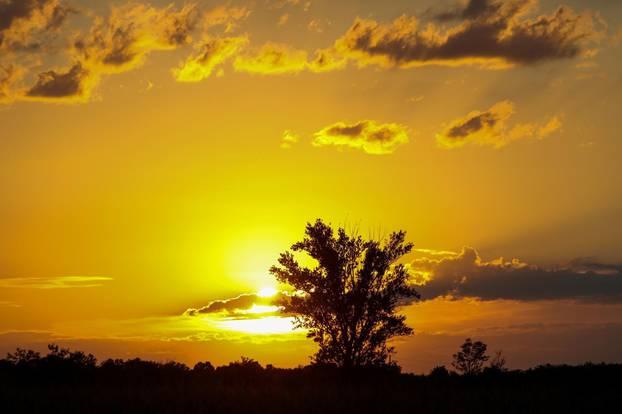 Zalazak sunca u Baranji
